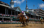 LOUISVILLE, KY - MAY 0:  Paulassilverlining #2 with Jose Ortiz Jr. defeats Finest City #5 with Mike Smith to win the Hummana Distaff at Churchill Downs on May 6, 2017 in Louisville, Kentucky. (Photo by Alex Evers/Eclipse Sportswire/Getty Images)