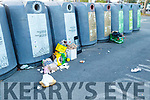 The rubbish at the bottle bank in Garvey's carpark in Tralee on Sunday evening.