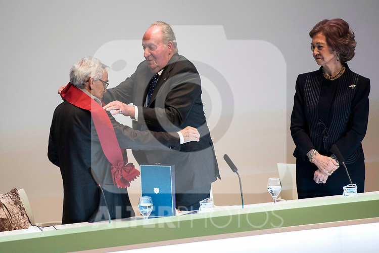 XXX attends to the act of imposition of the great cross of the civil order of Alfonso X el Sabio to D. Francisco Luzon Lopez at Reina Sofia Museum in Madrid. March 13, 2017. (ALTERPHOTOS/Borja B.Hojas)