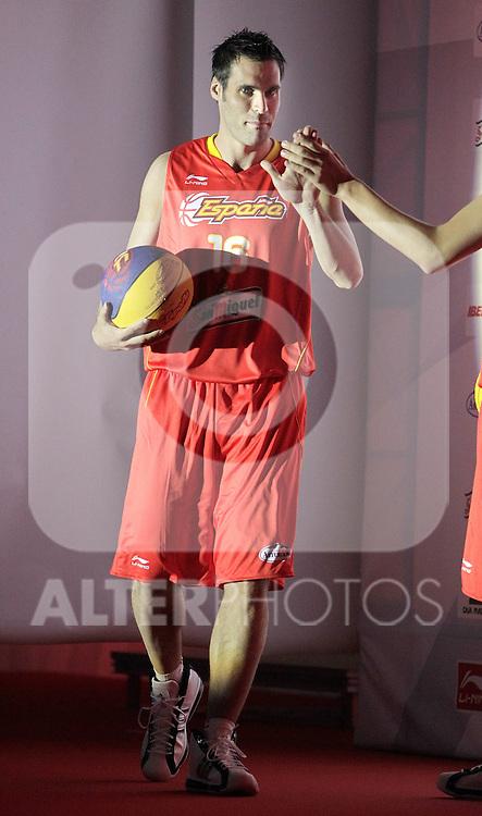 Spain's basket national team Fernando San Emeterio during presentation for world championships. July 21, 2010. (ALTERPHOTOS/Alvaro Hernandez)