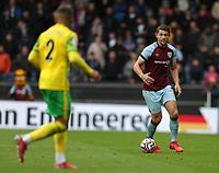 2nd October 2021;  Turf Moor, Burnley, Lancashire, England; Premier League football, Burnley versus Norwich City: James Tarkowski of Burnley runs with the ball