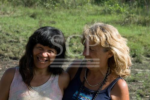 Xingu Indigenous Park, Mato Grosso State, Brazil. Aldeia Matipu; Port.