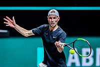 Rotterdam, The Netherlands, 27 Februari 2021, ABNAMRO World Tennis Tournament, Ahoy, Qualyfying match:  Milaan Niesten (NED)<br /> Photo: www.tennisimages.com/henkkoster