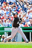 20 June 2010: Chicago White Sox right fielder Carlos Quentin in action during a game against the Washington Nationals at Nationals Park in Washington, DC. The White Sox swept the Nationals winning 6-3 in the last game of their 3-game interleague series. Mandatory Credit: Ed Wolfstein Photo