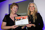 Pix: Shaun Flannery/shaunflanneryphotography.com<br /> <br /> COPYRIGHT PICTURE>>SHAUN FLANNERY>01302-570814>>07778315553>><br /> <br /> 4th April 2014.<br /> The Rotherham Athena Awards 2014.<br /> Honouree Jan Smirthwaite.