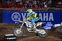 Cheyne Boyd / Yamaha<br /> 2015 Round 5 / Class : SX1<br /> Australian Supercross Championship / AUS-X Open<br /> Sydney NSW Saturday 28 November 2015<br /> © Sport the library / Jeff Crow