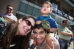 © Joel Goodman - 07973 332324 . 22/06/2014 .  Manchester , UK . Yacub Qureshi with family . The 2014 Manchester Day Parade . Photo credit : Joel Goodman