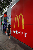 Mc Donald<br />  fast food restaurant  in Bangkok, Thailand in December 2016 after the King's death