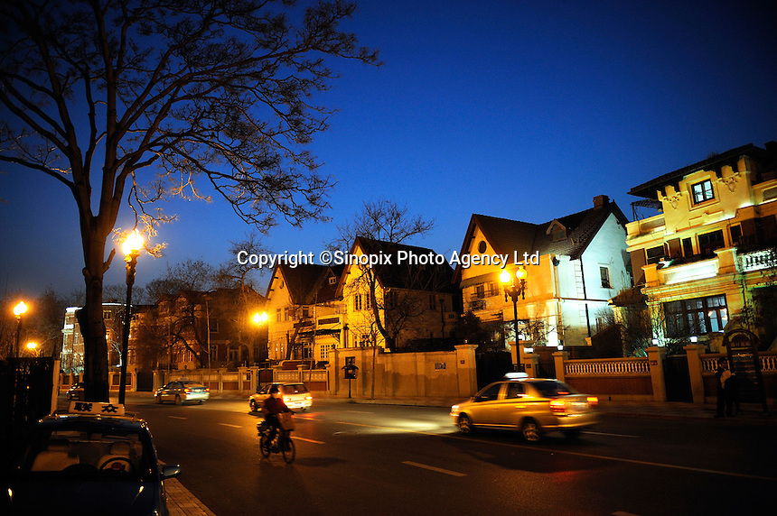 Street scene of Tianjin Race Course Road (MaChang Dao) which was British Concession..14 Mar 2009