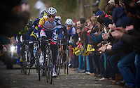 Ronde van Vlaanderen 2013..Taaienberg race leader: Tosh Van der Sande (BEL)