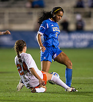 Danielle Colaprico, Darian Jenkins. UCLA advanced on penalty kicks after defeating Virginia, 1-1, in regulation time at the NCAA Women's College Cup semifinals at WakeMed Soccer Park in Cary, NC.