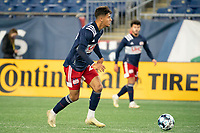 FOXBOROUGH, MA - OCTOBER 09: Nicolas Firmino #29 of New England Revolution II prepares to take a shot at goal during a game between Fort Lauderdale CF and New England Revolution II at Gillette Stadium on October 09, 2020 in Foxborough, Massachusetts.