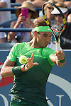 Rafael Nadal (ESP) takes the first two sets against Diego Schwartzman (ARG) 7-6, 6-3 at the US Open in Flushing, NY on September 2, 2015.