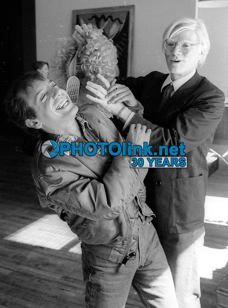 1978 FILE PHOTO<br /> New York City<br /> Studio 54 co-owner Steve Rubell Andy Warhol<br /> Photo by Adam Scull-PHOTOlink.net