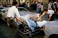 1987 File Photo - Montreal (Qc) Canada - Montreal paramedics at work