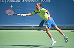 Alexandr Dolgopolov (UKR) defeats Jerzy Kanowicz (POL), 6-3. 3-6, 6-4 at the Western and Southern Open in Mason, OH on August 20, 2015.