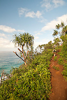 Hiking the Kalalau Trail along the Napali Coast, Northshore, Kauai, Hawaii
