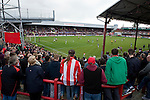 Brentford 0 Doncaster Rovers 1, 27/04/2013. Griffin Park, League One. Griffin Park hosts a showdown between two clubs aiming for automatic promotion from League One. Tension mounts for the sell-out crowd. Photo by Simon Gill.