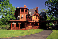 AJ3504, Hartford, Mark Twain, Connecticut, Mark Twain House a Victorian Gothic style home in Hartford in the state of Connecticut.