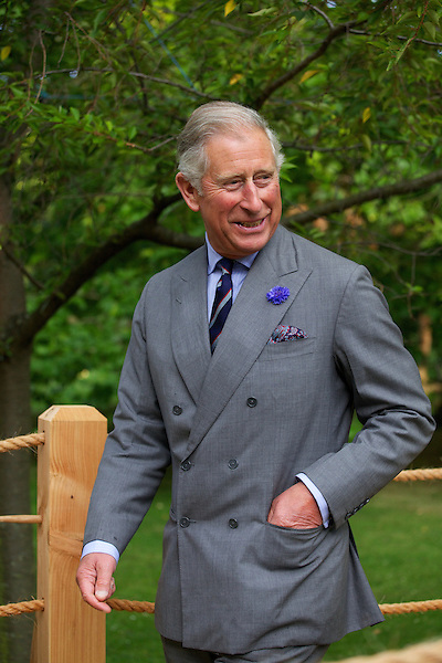 Prince Charles at an environmental fair in the Clarence House gardens
