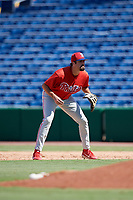 Philadelphia Phillies Luke Miller (30) during a Florida Instructional League game against the Toronto Blue Jays on September 24, 2018 at Spectrum Field in Clearwater, Florida.  (Mike Janes/Four Seam Images)