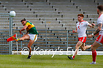 Micheál Burns, Kerry, in action against Conor Meyler, Tyrone, during the Allianz Football League Division 1 Semi-Final, between Tyrone and Kerry at Fitzgerald Stadium, Killarney, on Saturday.