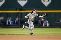 Vanderbilt Commodores shortstop Dansby Swanson (7) snags a ground ball during the NCAA College baseball World Series against the TCU Horned Frogs on June 16, 2015 at TD Ameritrade Park in Omaha, Nebraska. Vanderbilt defeated TCU 1-0. (Andrew Woolley/Four Seam Images)