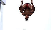BARRANQUILLA - COLOMBIA, 20-07-2018: Jahir Ocampo, Mexico, durante su participación en la categoría clavados hombres como parte de los Juegos Centroamericanos y del Caribe Barranquilla 2018. /  Jahir Ocampo, Mexico, during his participation in the diving men's category of the Central American and Caribbean Sports Games Barranquilla 2018. Photo: VizzorImage / Alfonso Cervantes / Cont