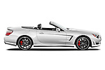 Passenger side profile view of a 2013 Mercedes-Benz SL-Class SL63 AMG Convertible