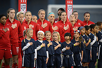 San Diego, Ca - Sunday, January 21, 2018: USWNT Player Escorts during a USWNT 5-1 victory over Denmark at SDCCU Stadium.