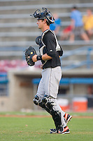 Catcher Caleb Joseph #51 of the Frederick Keys jogs out to the mound at Wake Forest Baseball Stadium August 6, 2009 in Winston-Salem, North Carolina. (Photo by Brian Westerholt / Four Seam Images)