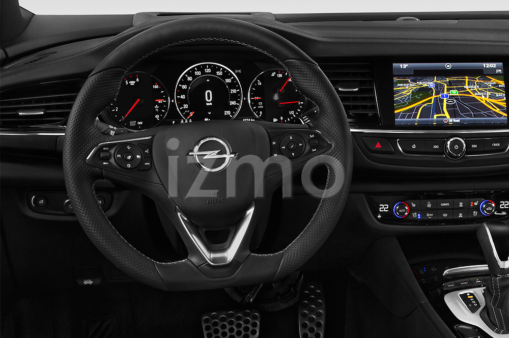 Car pictures of steering wheel view of a 2018 Opel Insignia Country Tourer Exclusive 5 Door Wagon