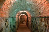 Castle passageway. Castello di Amerorosa. Napa Valley, California. Property relased