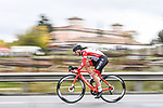 Doltcini–Van Eyck Proximus Continental Team rider in action during Stage 2 of the CERATIZIT Challenge by La Vuelta 2020, an individual time trial running 9.3km around Boadilla del Monte, Spain. 6th November 2020.<br /> Picture: Antonio Baixauli López/BaixauliStudio | Cyclefile<br /> <br /> All photos usage must carry mandatory copyright credit (© Cyclefile | Antonio Baixauli López/BaixauliStudio)