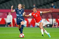 21st July 2021; Sapporo, Japan; Caroline Weir 11 GBR and Maria Jose Urrutia 9 Chile challenge for the ball during the womens Olympic Football Tournament Tokyo 2020 match between Great Britain and Chile at Sapporo Dome in Sapporo, Japan. Great Britain won the game by a score of 2-0