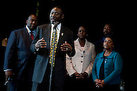 Press conference by the family of Trayvon Martin and Doreen Lawrence give a press conference in london. 11-5-12  Lawyer Benjamin Crump addresses the media.