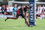 Junior Ratuva. Kings College 1st XV v New Plymouth Boys High, Kings College, Auckland, New Zealand. Saturday 8 April 2017. Photo: Simon Watts/www.bwmedia.co.nz for Kings College
