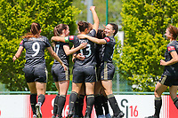 OHL players celebrate the goal of Lenie Onzia (8) of OHLduring a female soccer game between Standard Femina de Liege and Oud Heverlee Leuven on the 10th and last matchday in play off 1 of the 2020 - 2021 season of Belgian Scooore Womens Super League , saturday 29 th of May 2021  in Angleur , Belgium . PHOTO SPORTPIX.BE   SPP   SEVIL OKTEM