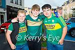 Enjoying the evening in Killarney on Saturday, l to r: Anthony Carroll (Kilcummin), Luke Ryan (Kilcummin) and Quinn O'Connor (Firies).