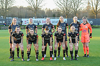 team picture O.H.L. ( Lenie Onzia (8) of OHL , Auke Swevers (4) of OHL , Hannah Eurlings (9) of OHL , Amber Tysiak (3) of OHL , Sari Kees (2) of OHL , Goalkeeper Faye Lammertijn (22) and Marie Detruyer (17) of OHL , Luna Vanzeir (10) of OHL , Zenia Mertens (6) of OHL , Jill Janssens (7) of OHL , Estee Cattoor (11) of OHL ) before a female soccer game between Sporting Charleroi and Oud Heverlee Leuven on the 17 th matchday of the 2020 - 2021 season of Belgian Scooore Womens Super League , tuesday 30 th of March 2021  in Marcinelle , Belgium . PHOTO SPORTPIX.BE | SPP | STIJN AUDOOREN