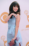 Zooey Deschanel attends 65th Annual Primetime Emmy Awards - Arrivals held at The Nokia Theatre L.A. Live in Los Angeles, California on September 22,2012                                                                               © 2013 DVS / Hollywood Press Agency