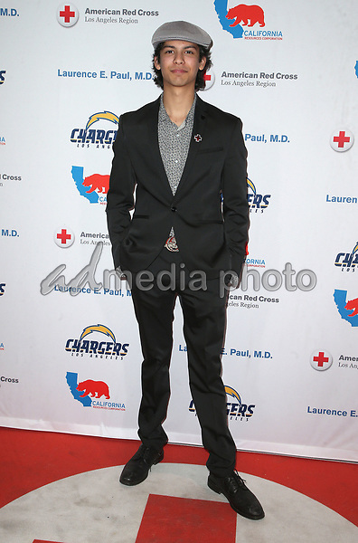 09 March 2018 - Los Angeles, California - Xolo Maridueña. American Red Cross Annual Humanitarian Celebration Honoring The LA Chargers at the Skirball Cultural Center. Photo Credit: F. Sadou/AdMedia