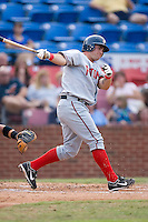 Andrew Lefave (11) of the Potomac Nationals follows through on his swing at Ernie Shore Field in Winston-Salem, NC, Saturday August 9, 2008. (Photo by Brian Westerholt / Four Seam Images)