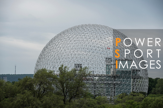 The former U.S. Pavilion Expo pictured during the F1 Grand Prix du Canada at the Circuit Gilles-Villeneuve on June 08, 2012 in Montreal, Canada. The architect of the geodesic dome was Richard Buckminster Fuller. Photo by Victor Fraile / The Power of Sport Images