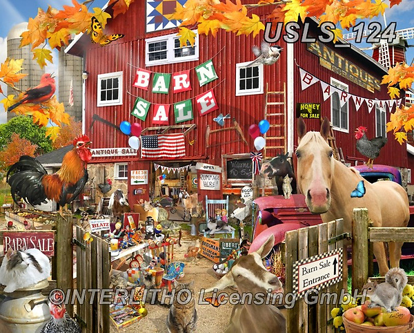 Lori, REALISTIC ANIMALS, REALISTISCHE TIERE, ANIMALES REALISTICOS, zeich, paintings+++++Barn Sale Puzzle_6_72,USLS124,#a#, EVERYDAY ,puzzle,puzzles
