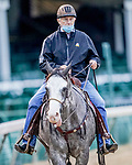 August 31, 2020: After recently recovering from COVID-19, Hall of Fame Trainer D. Wayne Lukas is back in the saddle for morning workouts as horses prepare for the 2020 Kentucky Derby and Kentucky Oaks at Churchill Downs in Louisville, Kentucky. The race is being run without fans due to the coronavirus pandemic that has gripped the world and nation for much of the year. Scott Serio/Eclipse Sportswire/CSM