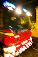 Firefighters attend a fire at the Fox PH Farthinghoe Northants UK. This image may only be used to portray the subject in a positive manner..©shoutpictures.com..john@shoutpictures.com