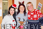 Jacqui Moriarty, Eileen Courtney and Kasia Dumka at the Castlemaine Christmas party on Sunday