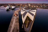 Corona Lockdown. Stille morgen set fra Langelinie på Østerbro i København. Billeder taget mellem 5:37 og 6:37 fredag den 17. april. Foto: Jens Panduro