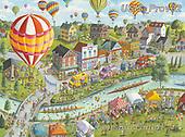 Ingrid, CHILDREN, KINDER, NIÑOS, paintings+++++,USISPROV32,#k#, EVERYDAY,town,rowing,balloons